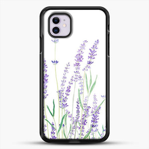 Purple Lavender iPhone 11 Case, Black Rubber Case | JoeYellow.com