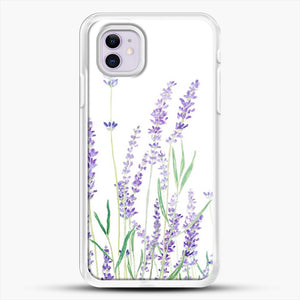 Purple Lavender iPhone 11 Case, White Rubber Case | JoeYellow.com