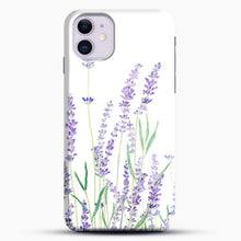 Load image into Gallery viewer, Purple Lavender iPhone 11 Case, Black Snap 3D Case | JoeYellow.com