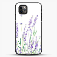 Load image into Gallery viewer, Purple Lavender iPhone 11 Pro Max Case, Black Plastic Case | JoeYellow.com