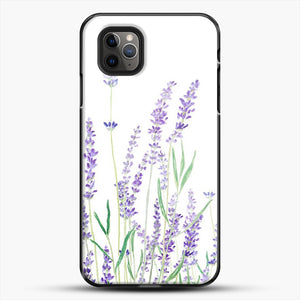 Purple Lavender iPhone 11 Pro Max Case, Black Plastic Case | JoeYellow.com