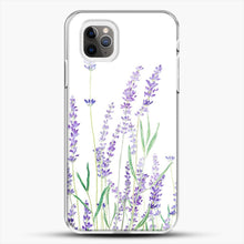 Load image into Gallery viewer, Purple Lavender iPhone 11 Pro Max Case, White Plastic Case | JoeYellow.com