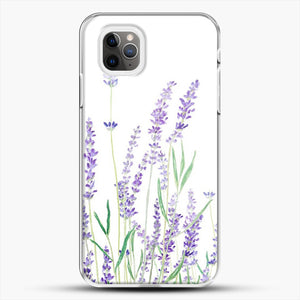 Purple Lavender iPhone 11 Pro Max Case, White Plastic Case | JoeYellow.com