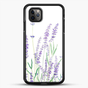 Purple Lavender iPhone 11 Pro Max Case, Black Rubber Case | JoeYellow.com
