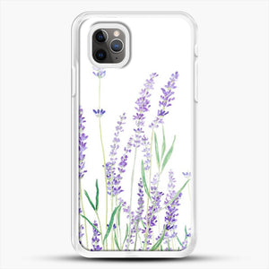 Purple Lavender iPhone 11 Pro Max Case, White Rubber Case | JoeYellow.com