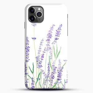 Purple Lavender iPhone 11 Pro Max Case, Black Snap 3D Case | JoeYellow.com