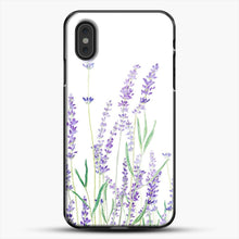 Load image into Gallery viewer, Purple Lavender iPhone XS Max Case, Black Plastic Case | JoeYellow.com