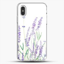 Load image into Gallery viewer, Purple Lavender iPhone XS Max Case, White Plastic Case | JoeYellow.com