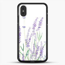 Load image into Gallery viewer, Purple Lavender iPhone XS Max Case, Black Rubber Case | JoeYellow.com