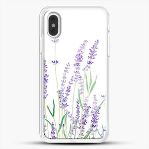 Purple Lavender iPhone XS Max Case, White Rubber Case | JoeYellow.com