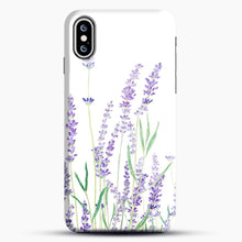 Load image into Gallery viewer, Purple Lavender iPhone XS Max Case, Black Snap 3D Case | JoeYellow.com