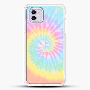 Rainbow Tie Dye iPhone 11 Case, White Rubber Case | JoeYellow.com