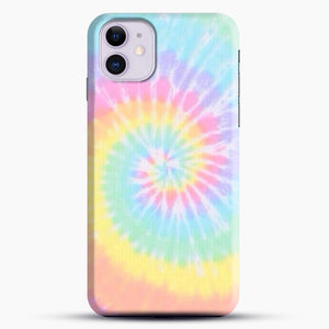 Rainbow Tie Dye iPhone 11 Case, Black Snap 3D Case | JoeYellow.com