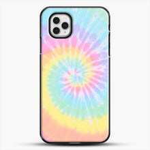 Load image into Gallery viewer, Rainbow Tie Dye iPhone 11 Pro Case, Black Plastic Case | JoeYellow.com