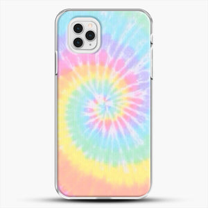 Rainbow Tie Dye iPhone 11 Pro Case, White Plastic Case | JoeYellow.com