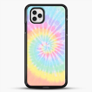 Rainbow Tie Dye iPhone 11 Pro Case, Black Rubber Case | JoeYellow.com