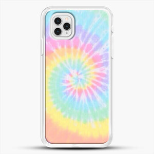 Rainbow Tie Dye iPhone 11 Pro Case, White Rubber Case | JoeYellow.com
