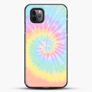 Rainbow Tie Dye iPhone 11 Pro Max Case, Black Plastic Case | JoeYellow.com