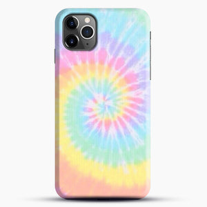 Rainbow Tie Dye iPhone 11 Pro Max Case, Black Snap 3D Case | JoeYellow.com