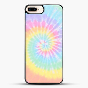 Rainbow Tie Dye iPhone 8 Plus Case, Black Plastic Case | JoeYellow.com