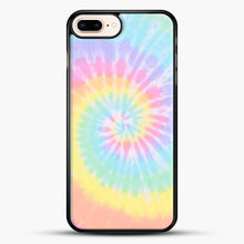 Load image into Gallery viewer, Rainbow Tie Dye iPhone 8 Plus Case, Black Rubber Case | JoeYellow.com