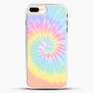 Rainbow Tie Dye iPhone 8 Plus Case, White Rubber Case | JoeYellow.com