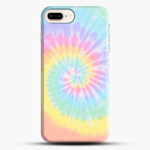 Rainbow Tie Dye iPhone 8 Plus Case, Black Snap 3D Case | JoeYellow.com