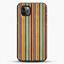 Load image into Gallery viewer, Recycled Skateboard Rainbow Texture iPhone 11 Pro Max Case, Black Plastic Case | JoeYellow.com