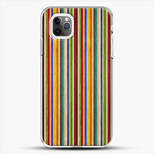 Load image into Gallery viewer, Recycled Skateboard Rainbow Texture iPhone 11 Pro Max Case, White Plastic Case | JoeYellow.com