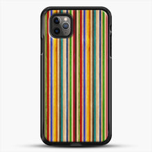 Load image into Gallery viewer, Recycled Skateboard Rainbow Texture iPhone 11 Pro Max Case, Black Rubber Case | JoeYellow.com