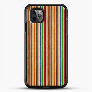 Recycled Skateboard Rainbow Texture iPhone 11 Pro Max Case, Black Rubber Case | JoeYellow.com
