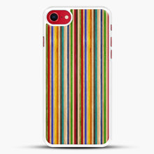 Load image into Gallery viewer, Recycled Skateboard Rainbow Texture iPhone 8 Case, White Rubber Case | JoeYellow.com