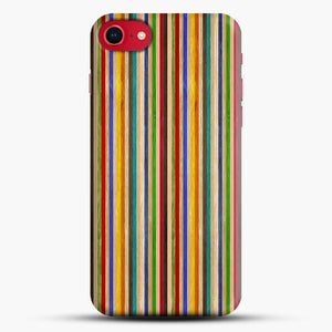 Recycled Skateboard Rainbow Texture iPhone 8 Case, Black Snap 3D Case | JoeYellow.com