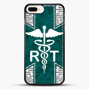 Respiratory Therapy iPhone 7 Plus Case, Black Rubber Case | JoeYellow.com