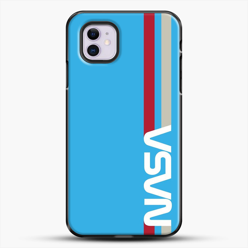 Retro Nasa iPhone 11 Case, Black Plastic Case | JoeYellow.com