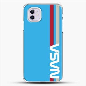 Retro Nasa iPhone 11 Case, White Plastic Case | JoeYellow.com