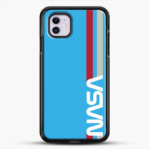 Retro Nasa iPhone 11 Case, Black Rubber Case | JoeYellow.com