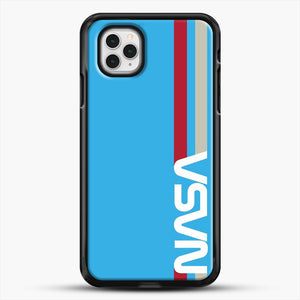 Retro Nasa iPhone 11 Pro Case, Black Rubber Case | JoeYellow.com