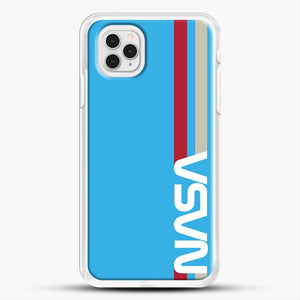 Retro Nasa iPhone 11 Pro Case, White Rubber Case | JoeYellow.com
