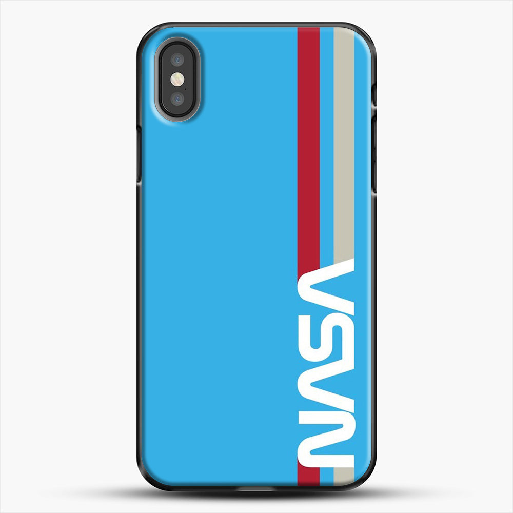 Retro Nasa iPhone X Case, Black Plastic Case | JoeYellow.com