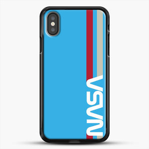 Retro Nasa iPhone X Case, Black Rubber Case | JoeYellow.com