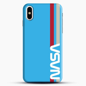 Retro Nasa iPhone X Case, Black Snap 3D Case | JoeYellow.com