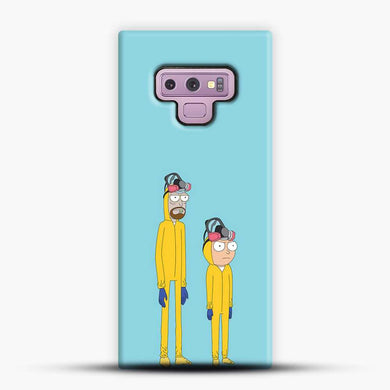 Rick And Morty Blue Background Samsung Galaxy Note 9 Case, Black Snap 3D Case | JoeYellow.com