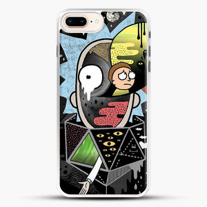 Rick Polarity iPhone 8 Plus Case, White Rubber Case | JoeYellow.com