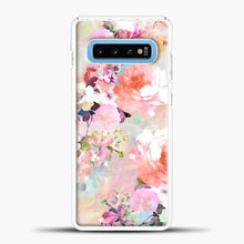 Load image into Gallery viewer, Romantic Pink Teal Watercolor Chic Floral Samsung Galaxy S10 Case