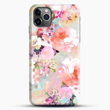 Load image into Gallery viewer, Romantic Pink Teal Watercolor Chic Floral iPhone 11 Pro Max Case, Black Snap 3D Case | JoeYellow.com