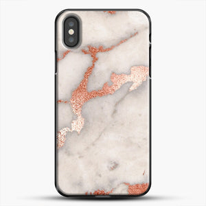 Rose Gold Marble iPhone Case, Black Plastic Case | JoeYellow.com