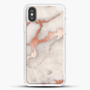 Rose Gold Marble iPhone Case, White Rubber Case | JoeYellow.com