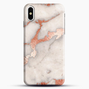 Rose Gold Marble iPhone Case, Black Snap 3D Case | JoeYellow.com