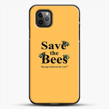 Load image into Gallery viewer, Save The Bees Golf iPhone 11 Pro Max Case, Black Plastic Case | JoeYellow.com